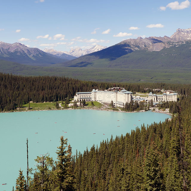 Mosquito Creek · Lake Louise im kanadischen Banff Nationalpark